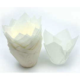 Mini Flor de papel blanco